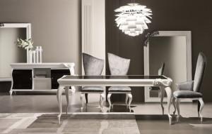 Gad Realty NYC   3.10 335T tavolo laccato bianco + 333S sedia + ...