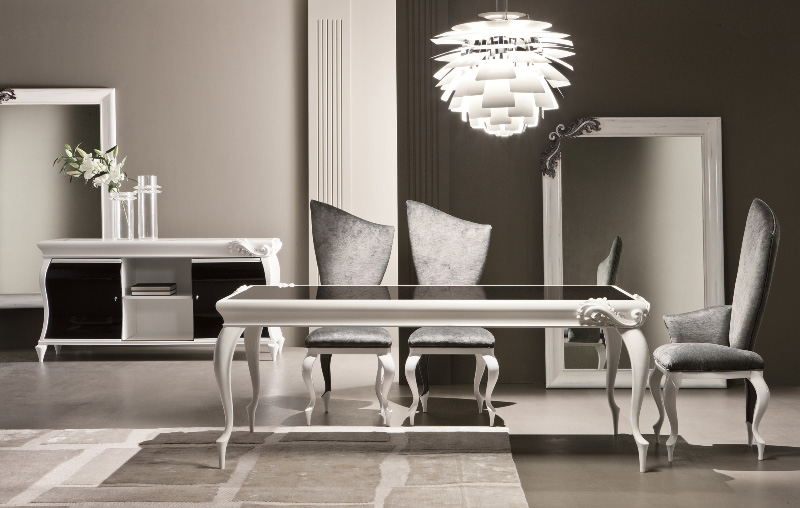 Gad Realty NYC | 3.10 335T tavolo laccato bianco + 333S sedia + 334P ...